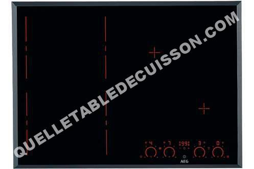 table de cuisson aeg hkp77420fb plaque induction hkp77420fb au meilleur prix. Black Bedroom Furniture Sets. Home Design Ideas