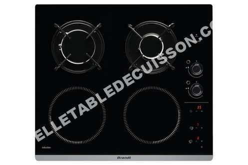 Table de cuisson brandt plaque mixte bpi6413bm au meilleur prix - Meilleur table de cuisson induction ...
