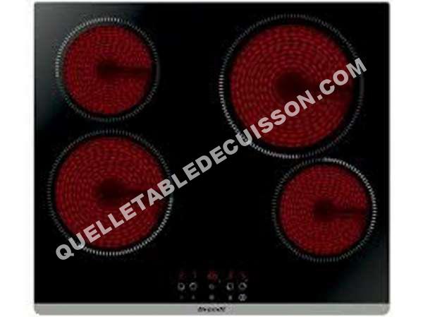 Table de cuisson brandt bpv6423b plaque 4 feux vitroceramique au meilleur prix - Table de cuisson vitroceramique de dietrich ...