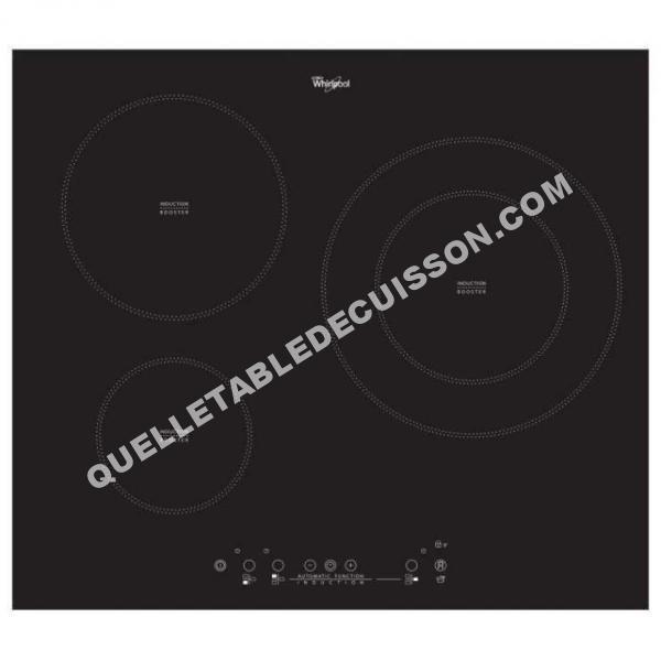 Table de cuisson whirlpool acm881ne table de cuisson - Table induction 3 foyers ...