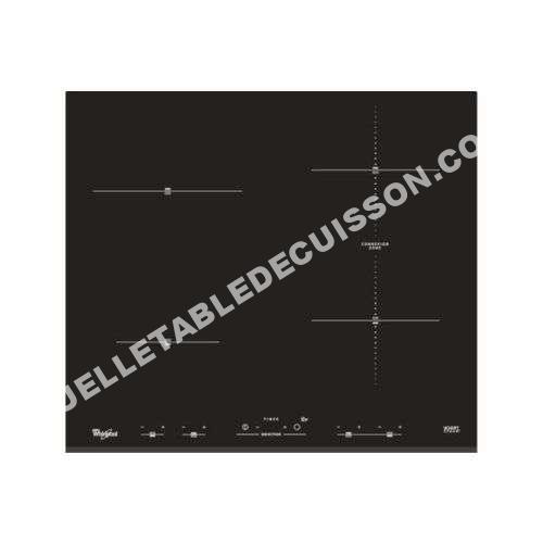 table de cuisson whirlpool plaque induction acm932bf au meilleur prix. Black Bedroom Furniture Sets. Home Design Ideas