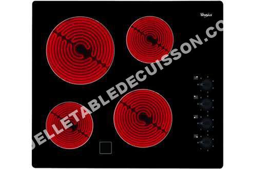 table de cuisson whirlpool akm700ne plaque vitrocéramique akm700ne