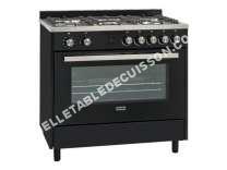 nouveautes  Gourmet Expert 90 DFT - Cuisinière - pose libre - largeur : 90 cm - profondeur : 60 cm - hauteur : 90 cm - avec système auto-nettoyant - noir